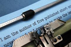 Author letter to publisher Stock Photos