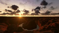 Grand Canyon timelapse sunrise, helicopter view Stock Footage