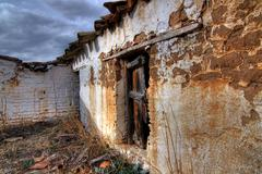 An ancient and old farm in spain Stock Photos