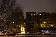 Snow in harlem manhattan new-york Stock Photos