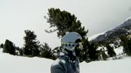 Stock Video Footage of Ski Fall Side Cam
