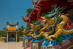 Chinese temple - Thailand, Phuket Stock Photos