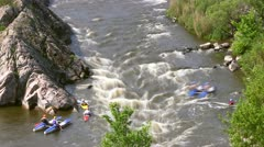 Full HD: Timelapse of White Water Rafting Stock Footage