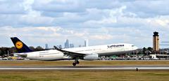 Lufthansa In Charlotte Stock Photos