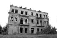Stock Photo of Isolated abandoned house