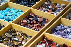 Multocolored trinket stones Stock Photos