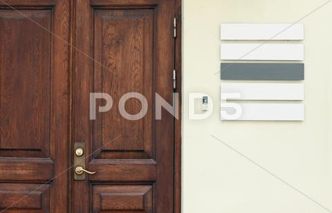 Stock photo of office door