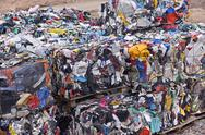 Stock Photo of Plastic garbage dump