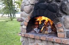 Stationary barbecue Stock Photos