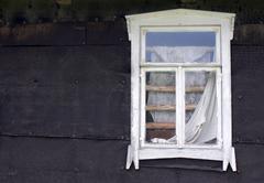 white window frame - stock photo