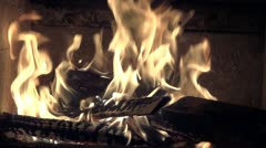 Fire Place Stock Footage