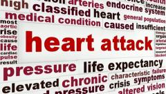 Heart attack medical message background Stock Footage