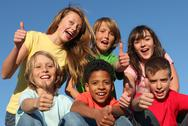 Stock Photo of group of diverse race kids