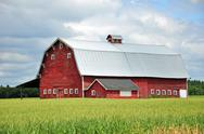 Stock Photo of Red barn