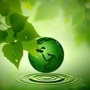 Green earth. abstract environmental backgrounds Stock Photos