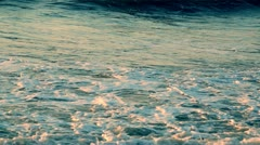 Green blue ocean sea waves Stock Footage