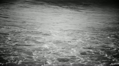 black and white mysterious ocean - stock footage