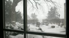 Snow Storm-Time Lapse Stock Footage