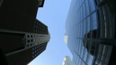 POV of Buildings is Los Angeles Fisheye - stock footage