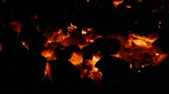 Coal flames Stock Footage