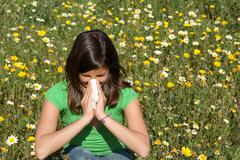 Child with allergy, hayfever or cold Stock Photos