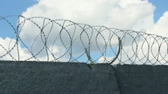 Sky Barbed Wire Stock Footage