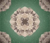 vintage background with ornament - stock illustration