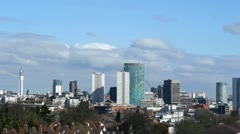 Birmingham England City Centre Skyline Timelapse Stock Footage