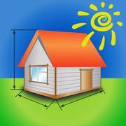 house - stock illustration