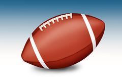 Amerikkalainen jalkapallo pallo kaltevuus valkoinen-sininen tausta Kuvituskuvat