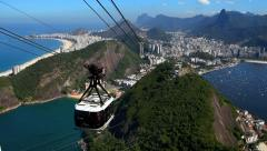 Panoramic view of the city of Rio de Janeiro Stock Footage