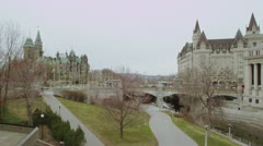 Springtime in downtown Ottawa - stock footage