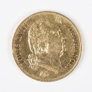 gold coin with louis xviii - stock photo