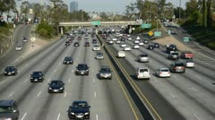 Time Lapse of Busy Freeway Traffic - stock footage