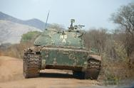 Stock Photo of northern army tank in south sudan
