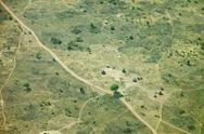 Stock Photo of aerial view of south sudan village