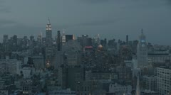 New York City Skyline Early Evening Stock Footage