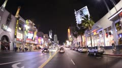 POV Driving in Hollywood California - Time Lapse - stock footage