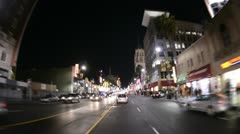 POV Driving in Hollywood California - Time Lapse Stock Footage