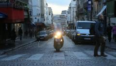 Montmartre moped. Paris, France. - stock footage