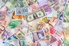 Currency background Stock Photos