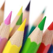 group of colorful pencils - stock photo