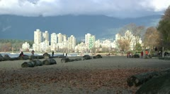 Kitsilano Beach Park in Vancouver Stock Footage