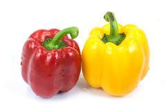 colored paprika - stock photo