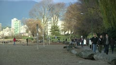 Kitsilano Beach Park in Vancouver - stock footage