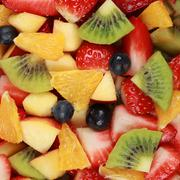 Fruit salad background Stock Photos