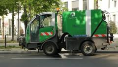 Parisian street cleaning Truck. Stock Footage