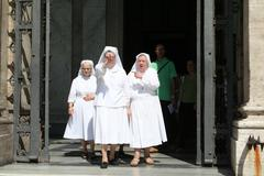 Angry Nuns Rome Stock Photos