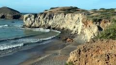 Cliffs, Beaches, Ocean, Nature, Landscape, Scenic View - stock footage
