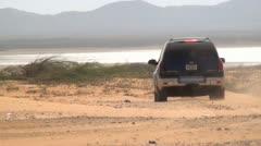 Trucks, 4x4s, SUVs, Desert, Driving, Transportation - stock footage